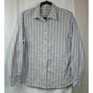Foxcroft Womens Non-Iron Shaped Fit Striped Shirt